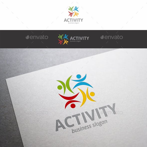 Activity Fitness Human Symbol Logo