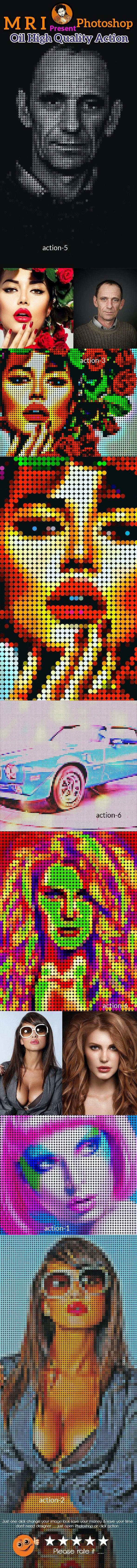 Pixel Art Revelation Action - Actions Photoshop