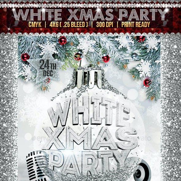 White Xmas Party Flyer