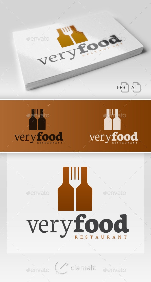 Very Food - Restaurant Logo - Restaurant Logo Templates