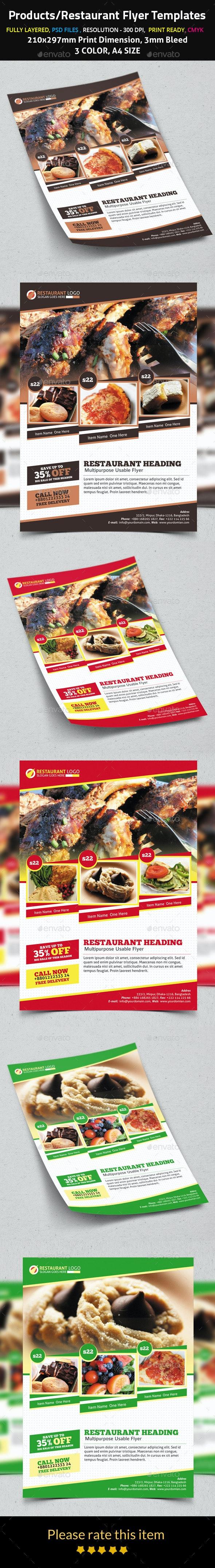Products/Restaurant Flyer Templates - Flyers Print Templates