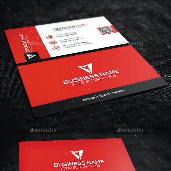 2 in 1 Corporate Business Card Bundle No.02