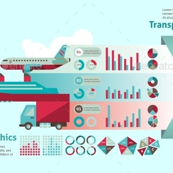 Transport Infographic Set
