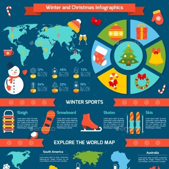 Winter and Christmas Infographic