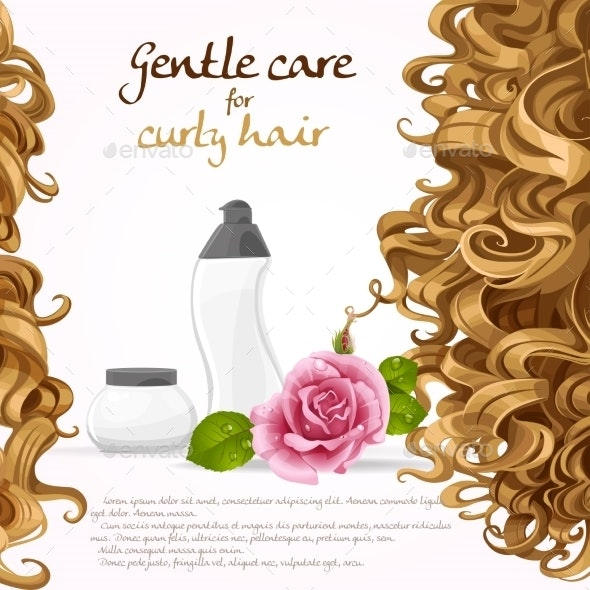 Curled Hair Care Background - Backgrounds Decorative
