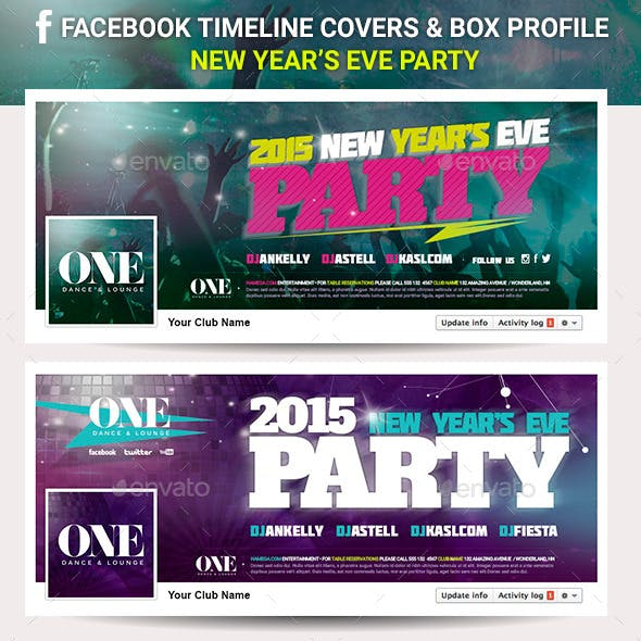 Facebook Timeline Cover - New Year's Eve Party