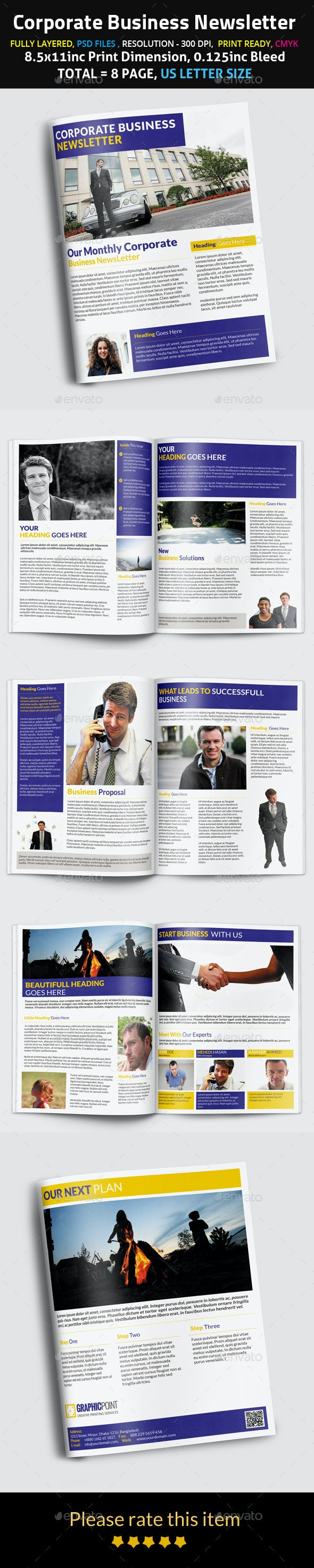 Corporate Business Newsletter - Newsletters Print Templates