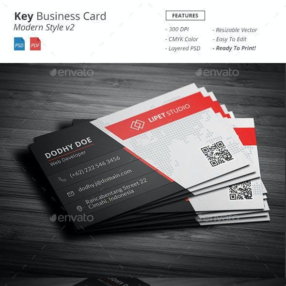 Key - Modern Business Card Template v2
