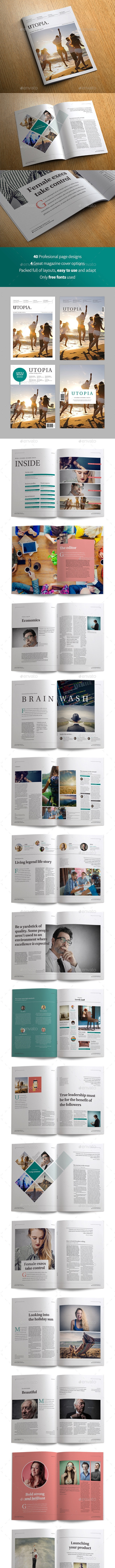 Utopia Magazine - Magazines Print Templates