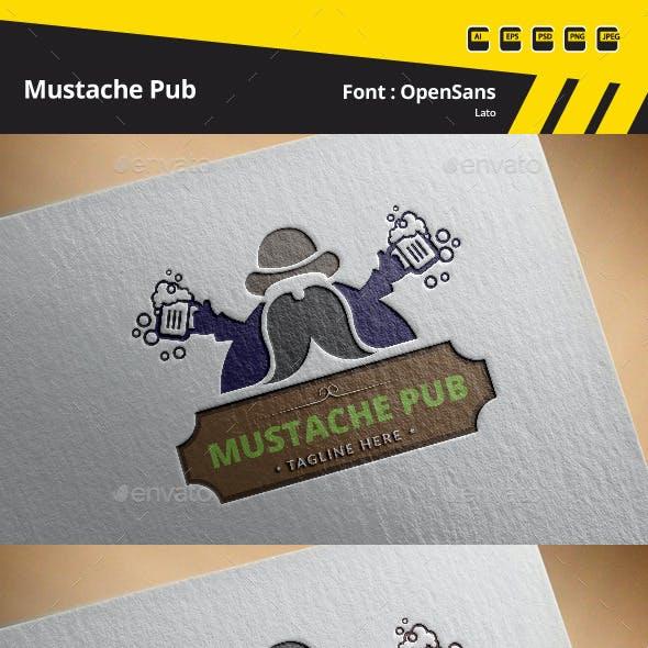 Mustache Pub Logo Template