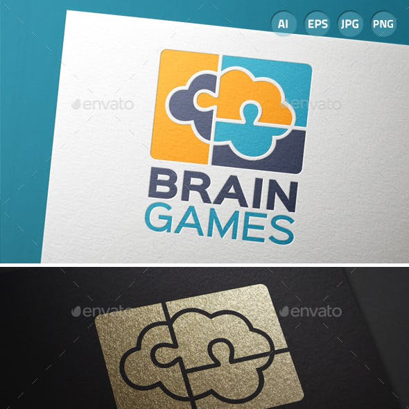Brain Games Puzzle Logo