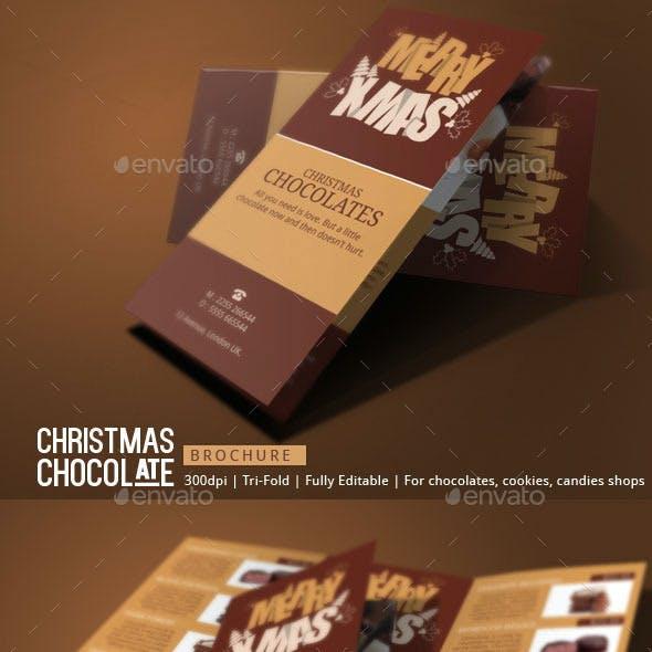 Christmas Chocolates Brochure Template