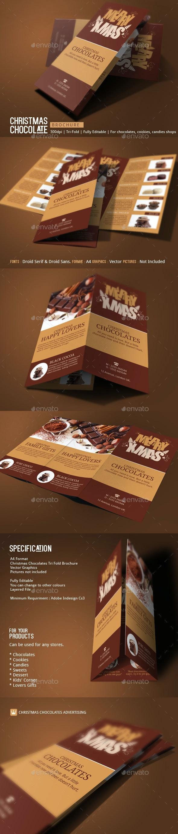 Christmas Chocolates Brochure Template - Catalogs Brochures