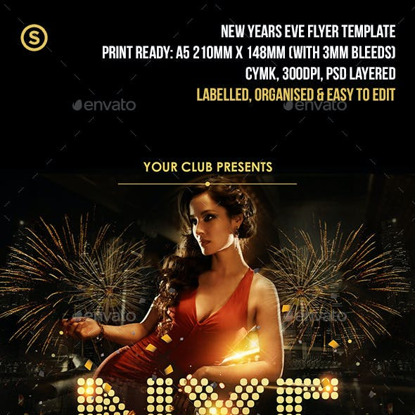 NYE New Years Eve Party Flyer