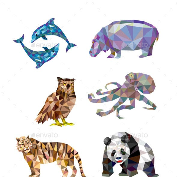 10 Low Poly Animal Series