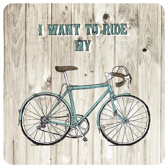 Vintage Bicycle - Travel Conceptual