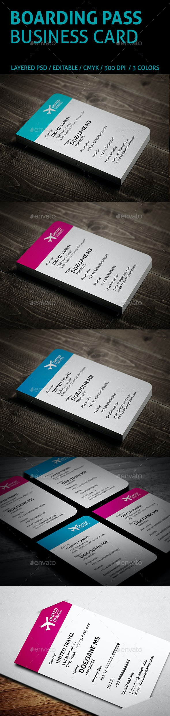 Creative Boarding Pass Business Card - Creative Business Cards