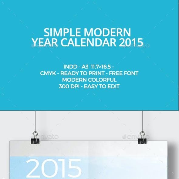Calendar 2015 Graphics, Designs & Templates from GraphicRiver