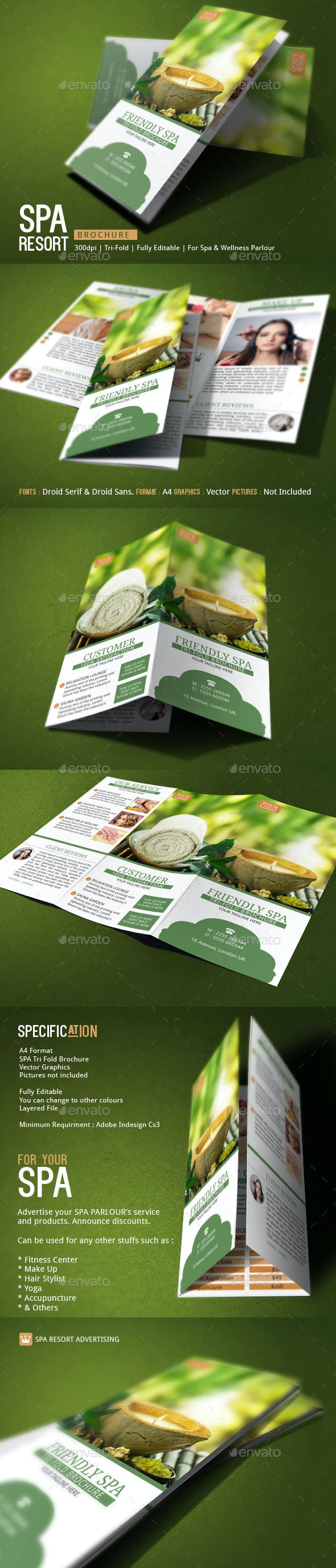 Spa Resort Brochure Template - Corporate Brochures