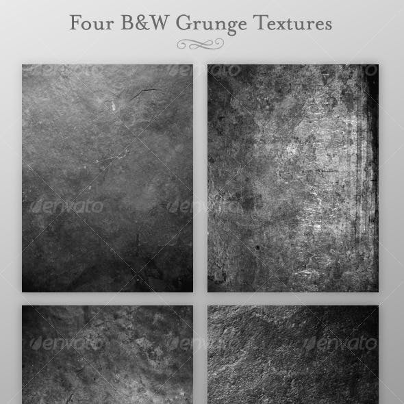 Four B&W Grunge Textures