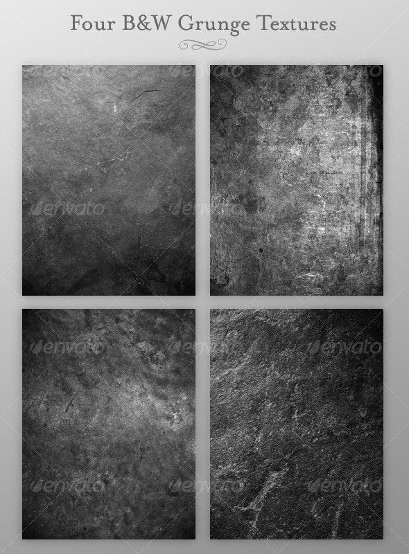 Four B&W Grunge Textures - Industrial / Grunge Textures