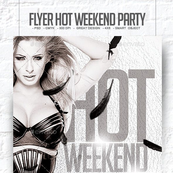 Flyer Hot Weekend Party