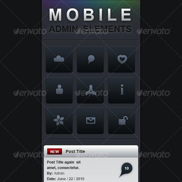 Mobile Admin Elements