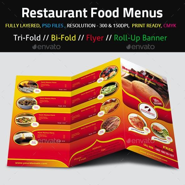 Restaurant Food Menus