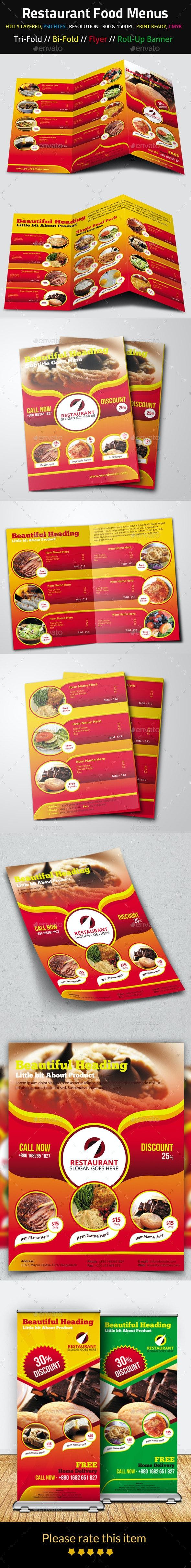 Restaurant Food Menus - Food Menus Print Templates