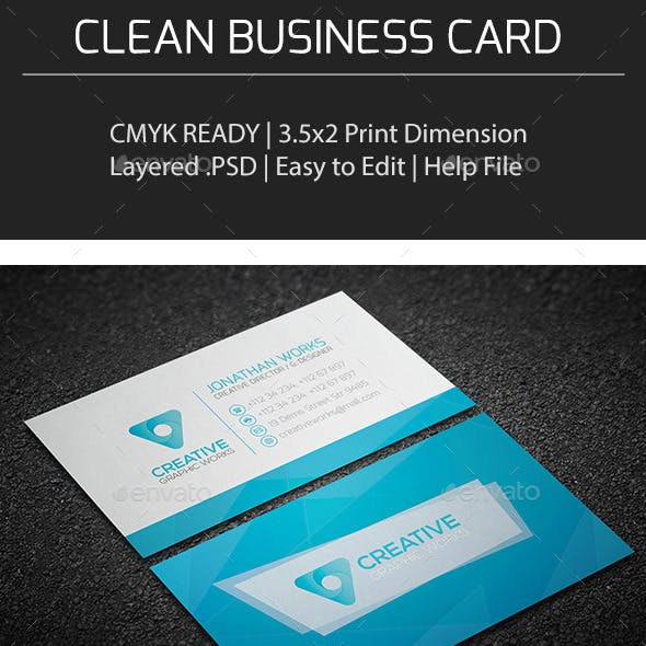 Clean Business Card V0152