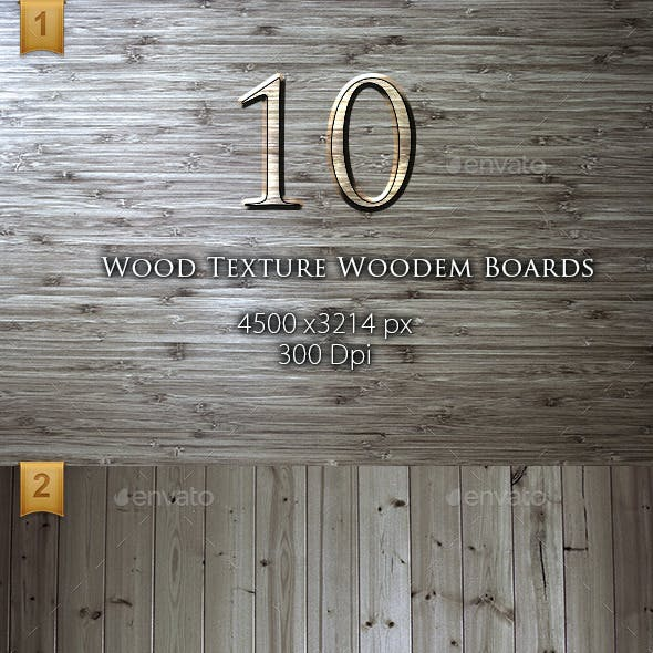 10 Wood Texture Wooden Boards