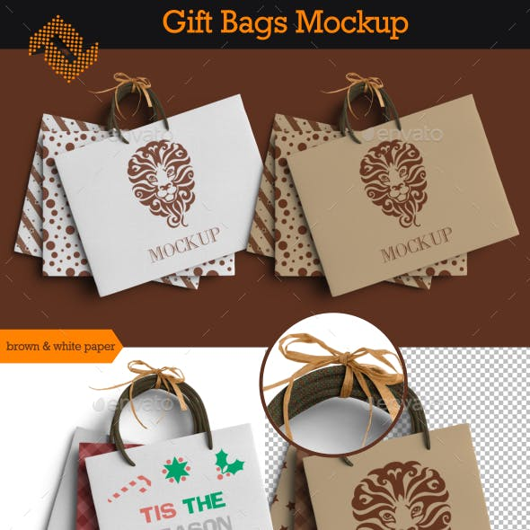 Gift Bags Mockup