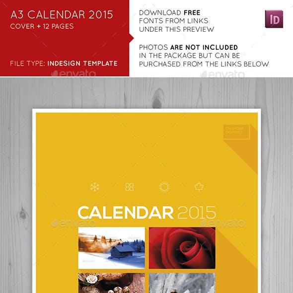 A3 Calendar 2015