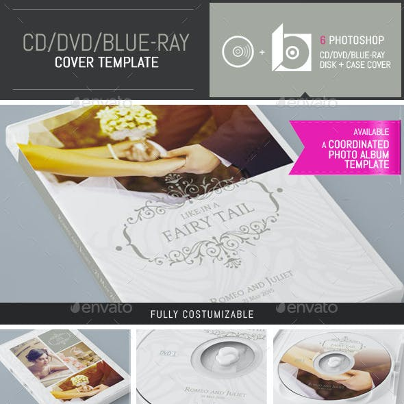 Elegant Wedding DVD / CD Cover Template