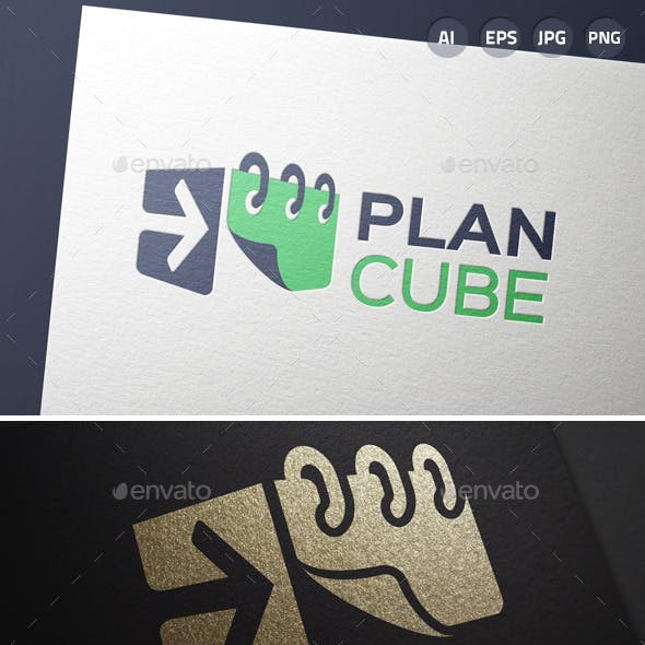 3D Calendar Plan Box Logo