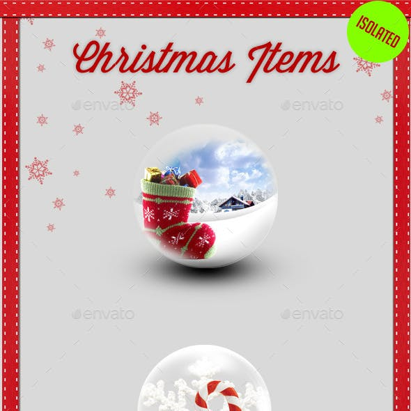 Christmas Isolated Items