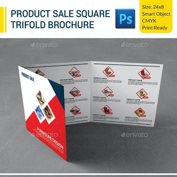 Product Sale Square Trifold Brochure
