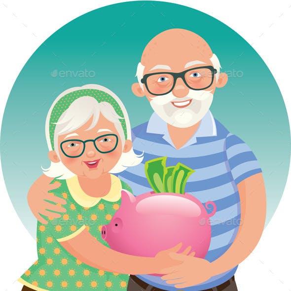 Elderly Couple Retired