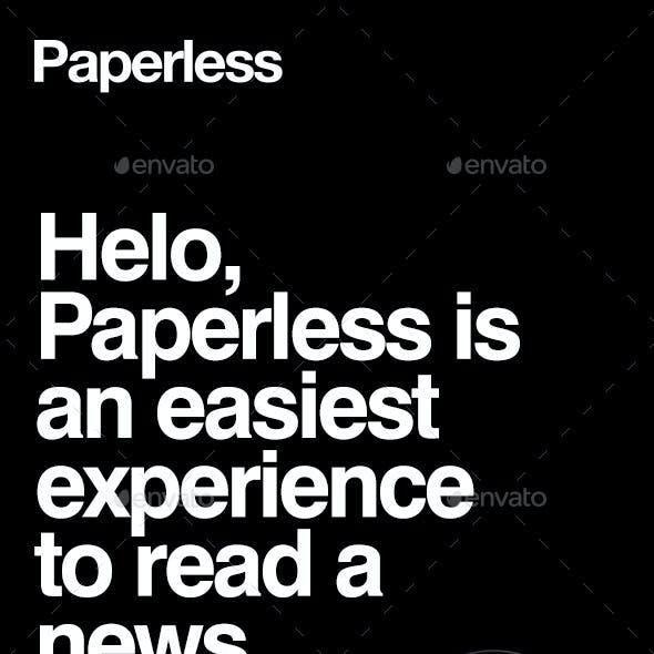 Paperless – Simple News & Magazine Mobile UI