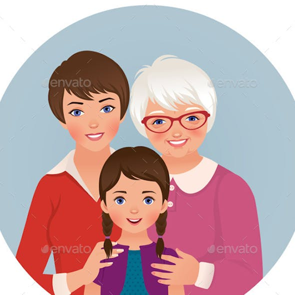 Grandmother Mother and Daughter