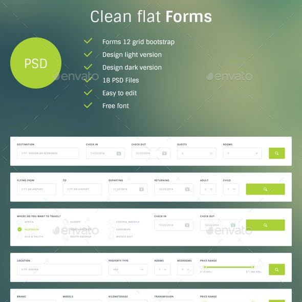 Clean Flat Forms