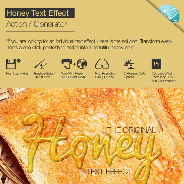 Honey Text Effect / Generator