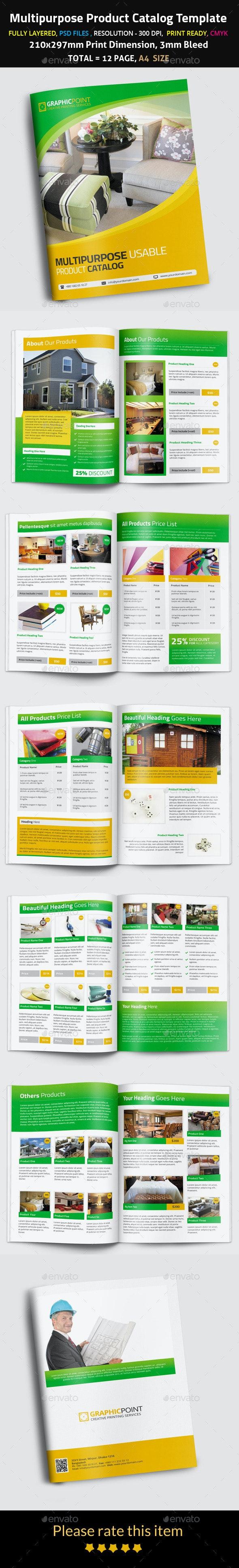 Multipurpose Product Catalog Template - Brochures Print Templates