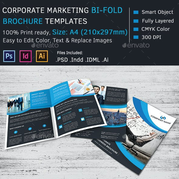 Corporate Marketing Bi-Fold Brochure