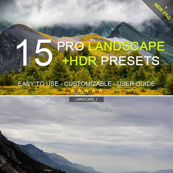 15 Pro Landscape+HDR Presets