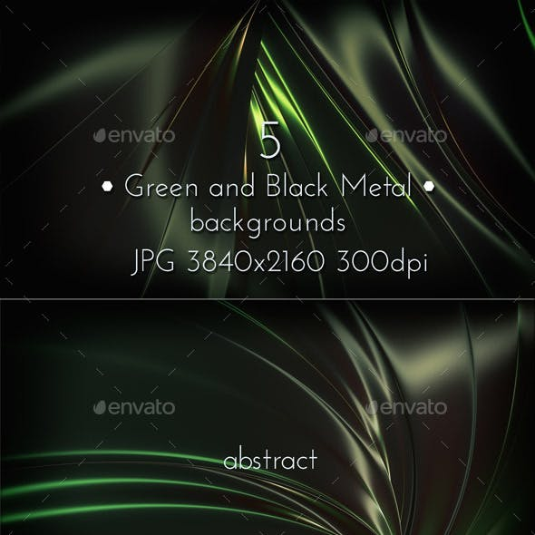 Green and Black Metallic Background