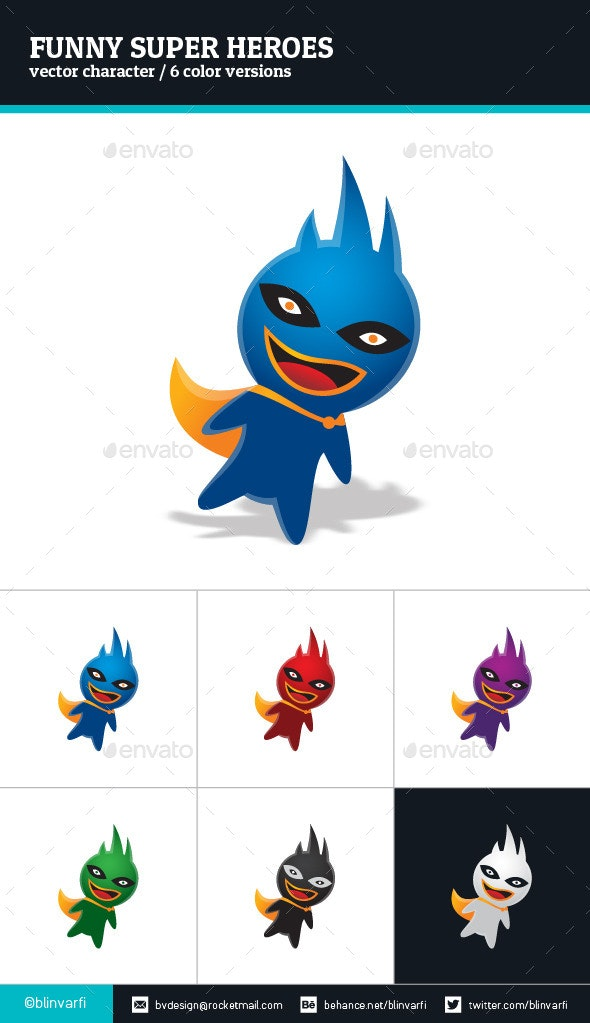 Funny Super Heroes - Monsters Characters