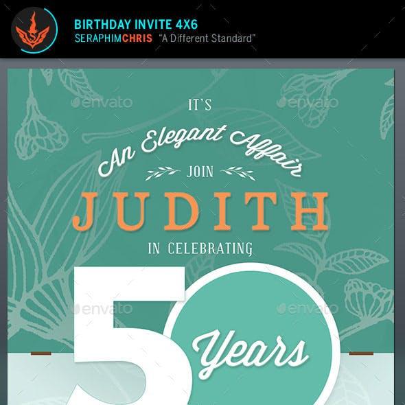 Birthday Invite Flyer Template