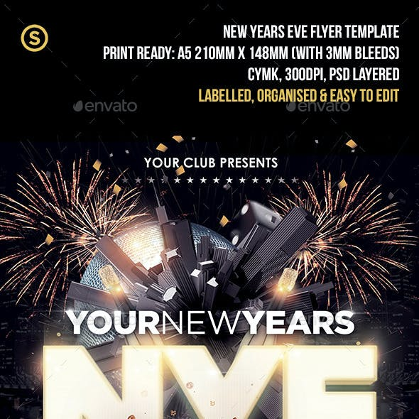 NYE New Years Party - Flyer