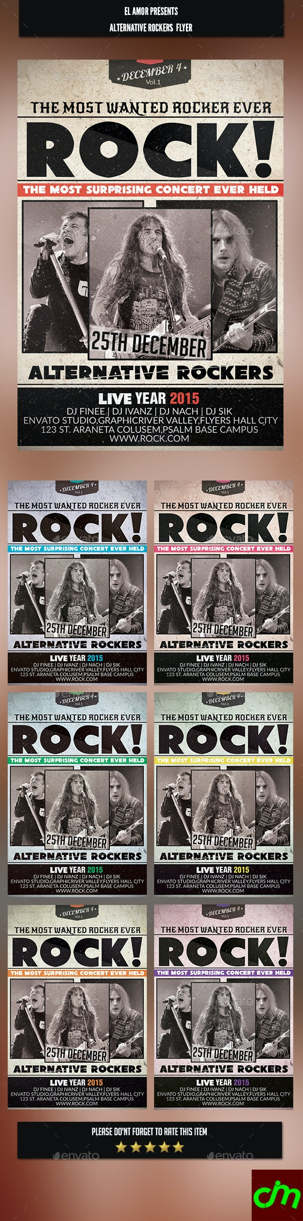 Alternative Rockers Flyer - Concerts Events